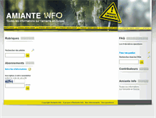 Tablet Preview of amiante-info.ch